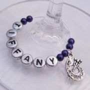 Paint Palette Personalised Wine Glass Charm